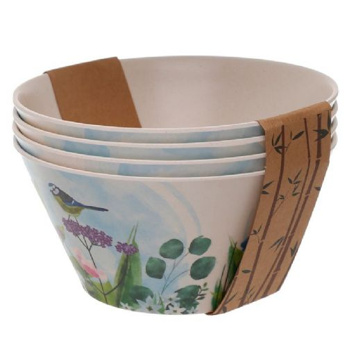 Botanical Gardens, Set of 4 Bamboo Eco Bowls